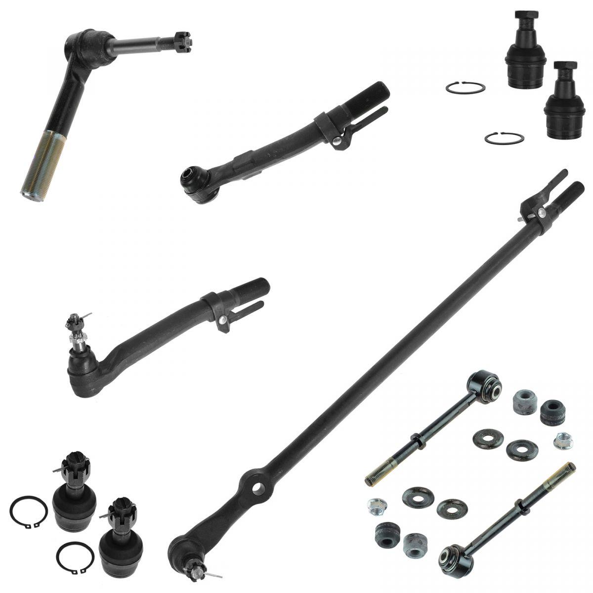 4 Piece Kit Tie Rod End Steering Drag Link LH RH Set for Ford Super Duty 4WD