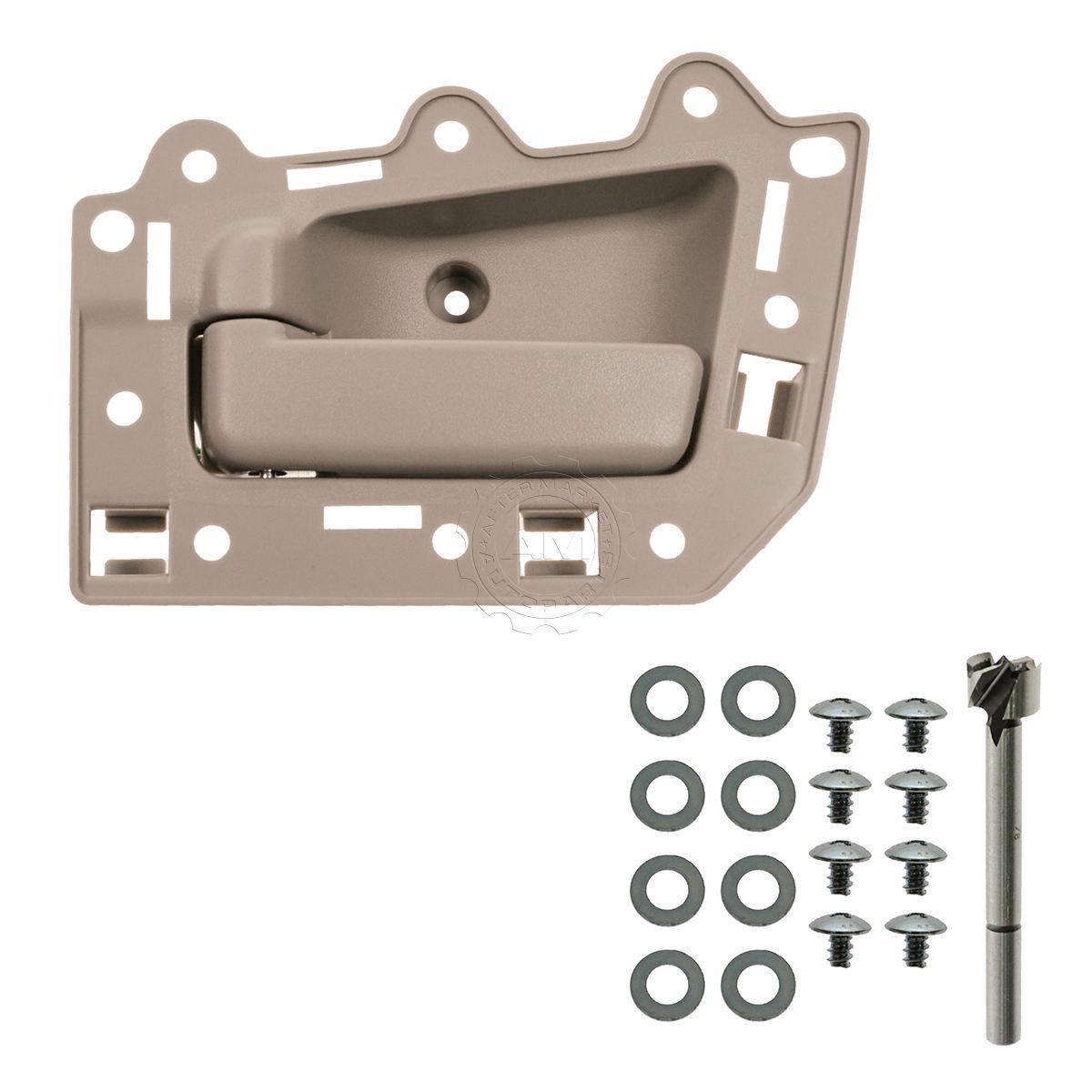 NEW Gray Inside Door Handle w//Install Kit Set FOR 2005-10 JEEP GRAND CHEROKEE