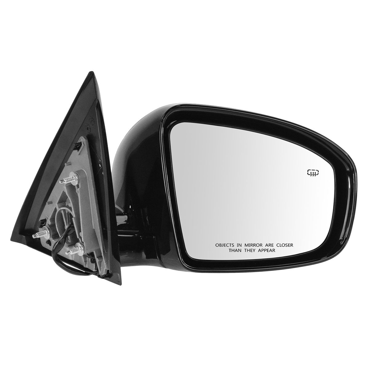 Mirror Power Heater Chrome Passenger Side RH for Nissan Frontier Pickup Truck