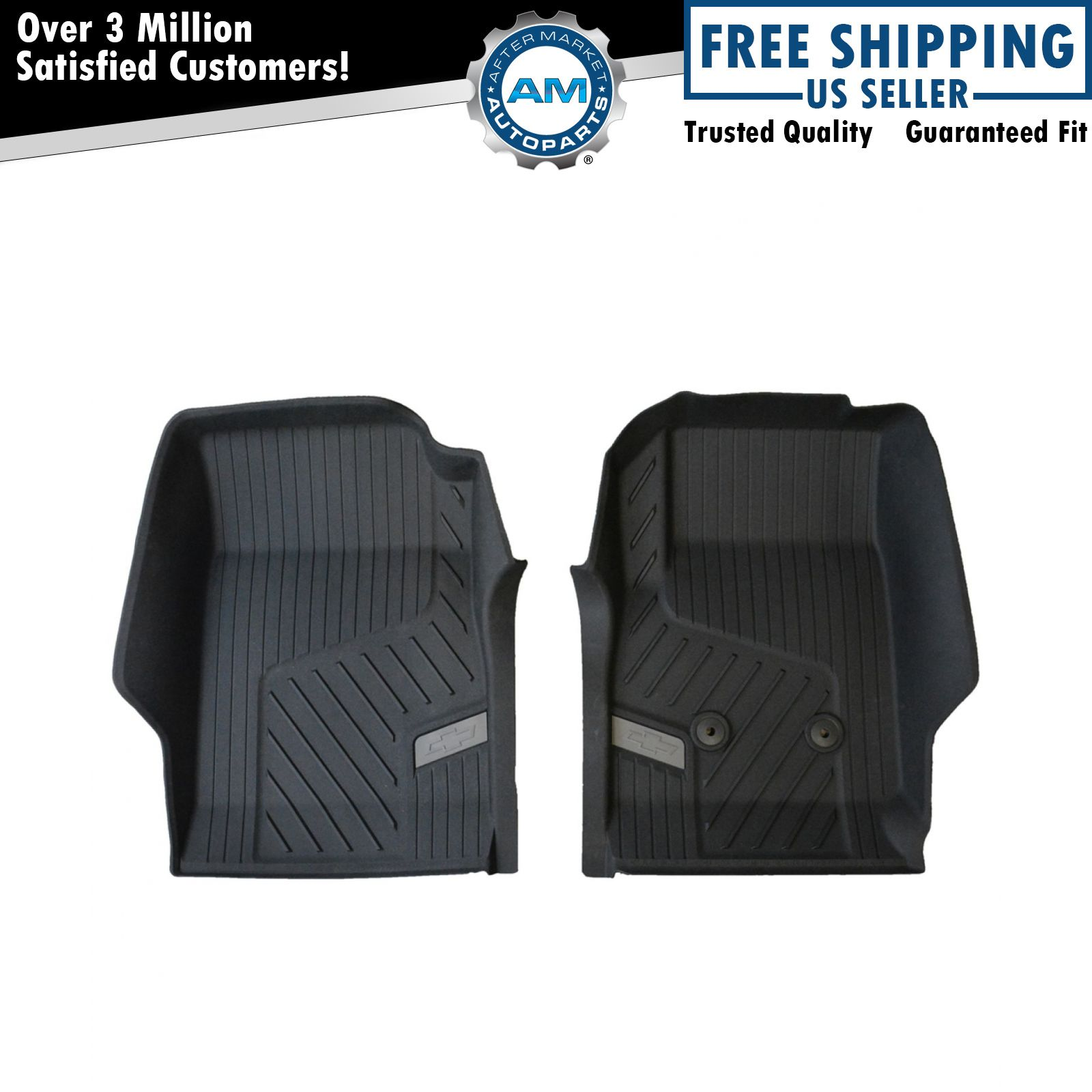 OEM 84056631 Black Rubber Front All Weather Floor Mat Pair