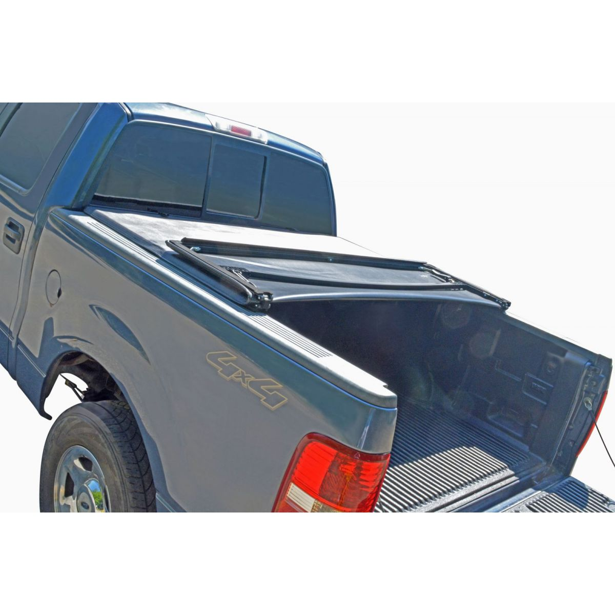 Tonneau Cover Soft Tri Fold For Ford F150 Pickup Truck Crew Cab 5 5ft Bed New Ebay