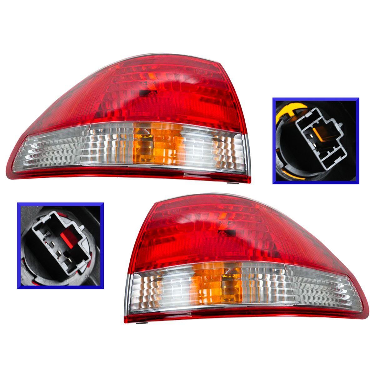 Inner Taillight Lamp Assembly Pair Set for 01-02 Honda Accord 4 Door NEW