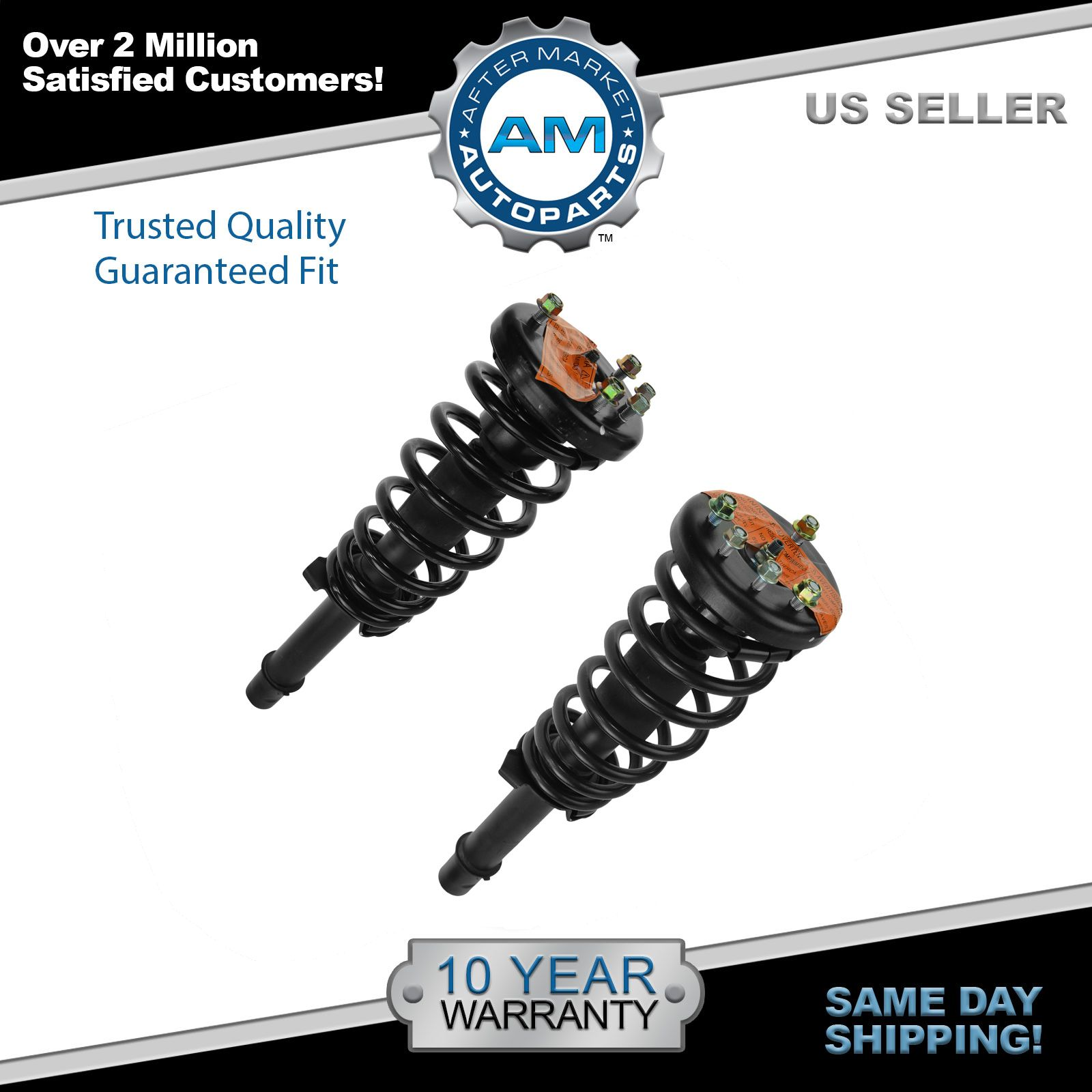 Front Shock Struts & Springs Left & Right Pair Set NEW for Acura CL