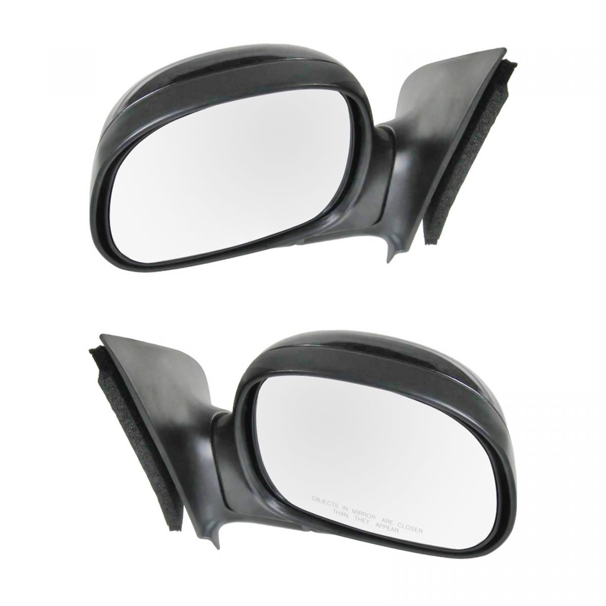 Black Manual Side Mirror Pair Set Of 2 LH & RH For Ford