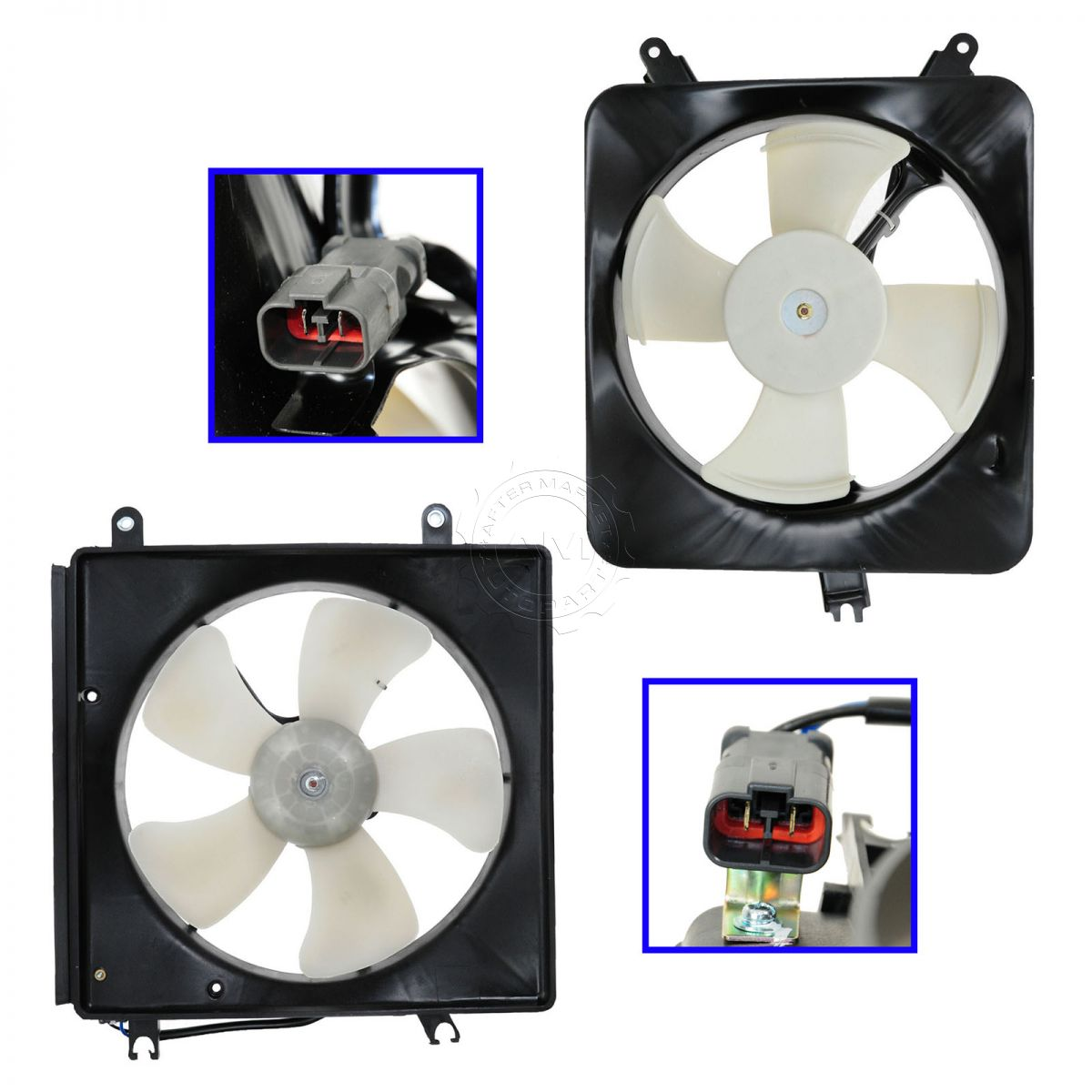 AC Condenser Radiator Cooling Fan Assembly Pair Set for Honda Accord Acura  CL