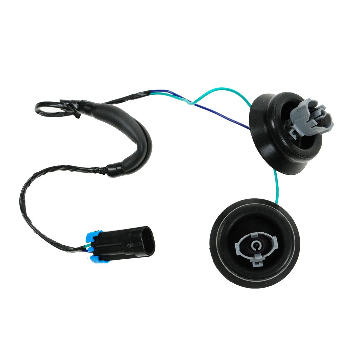 Engine Knock Sensor Harness with Dual Connectors Grommets for Cadillac Chevy GMC