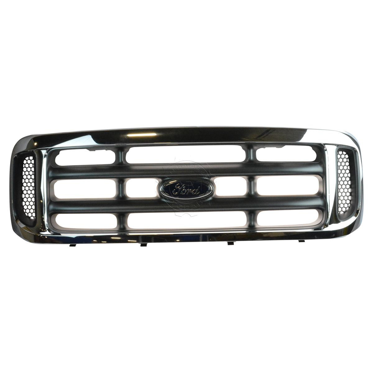 Grille Platinum: OEM 1C3Z-8200-BAA Chrome & Platinum Grille With Emblem For