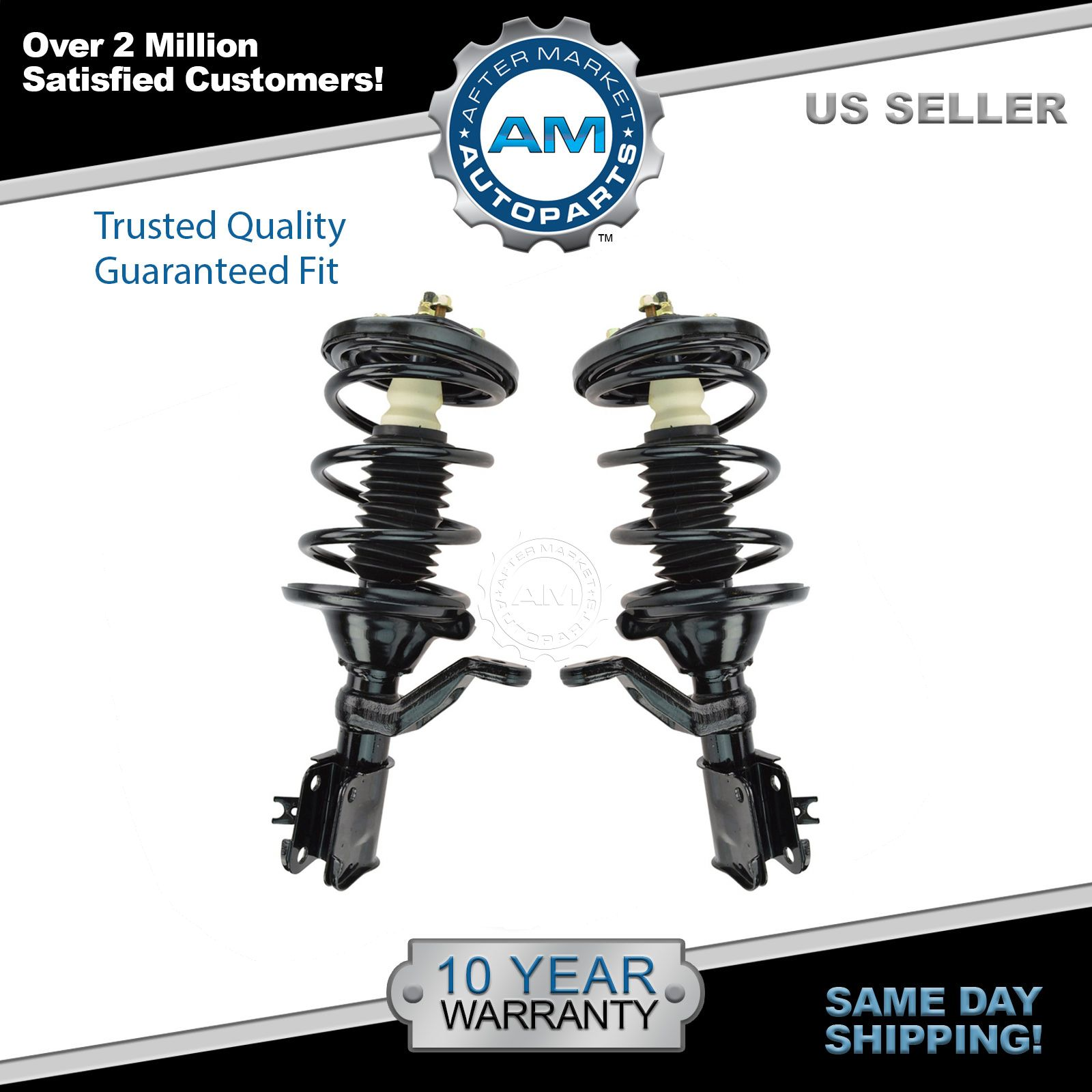 Front Complete Loaded Shock Strut Spring Assembly Pair Set 2pc for Civic New