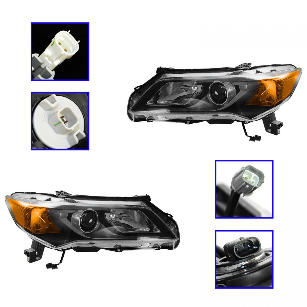 Headlight Headlamp Light Lamp Halogen Driver Passenger