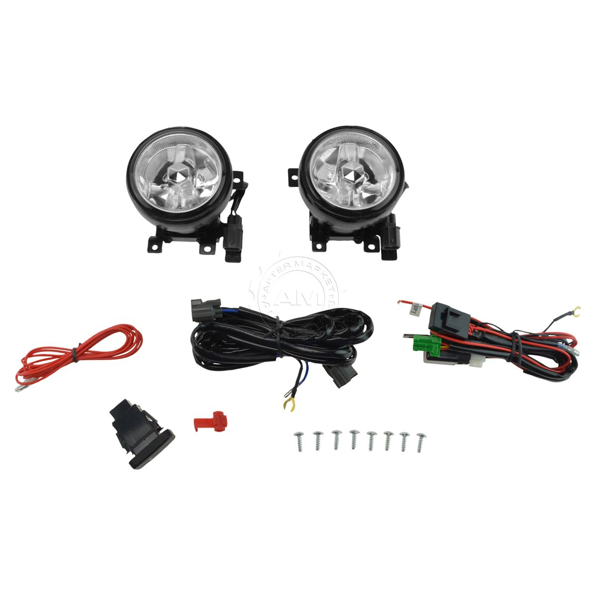Add On Upgrade Clear Lens Fog Light Bulb Switch Wiring Kit Set for Element  New
