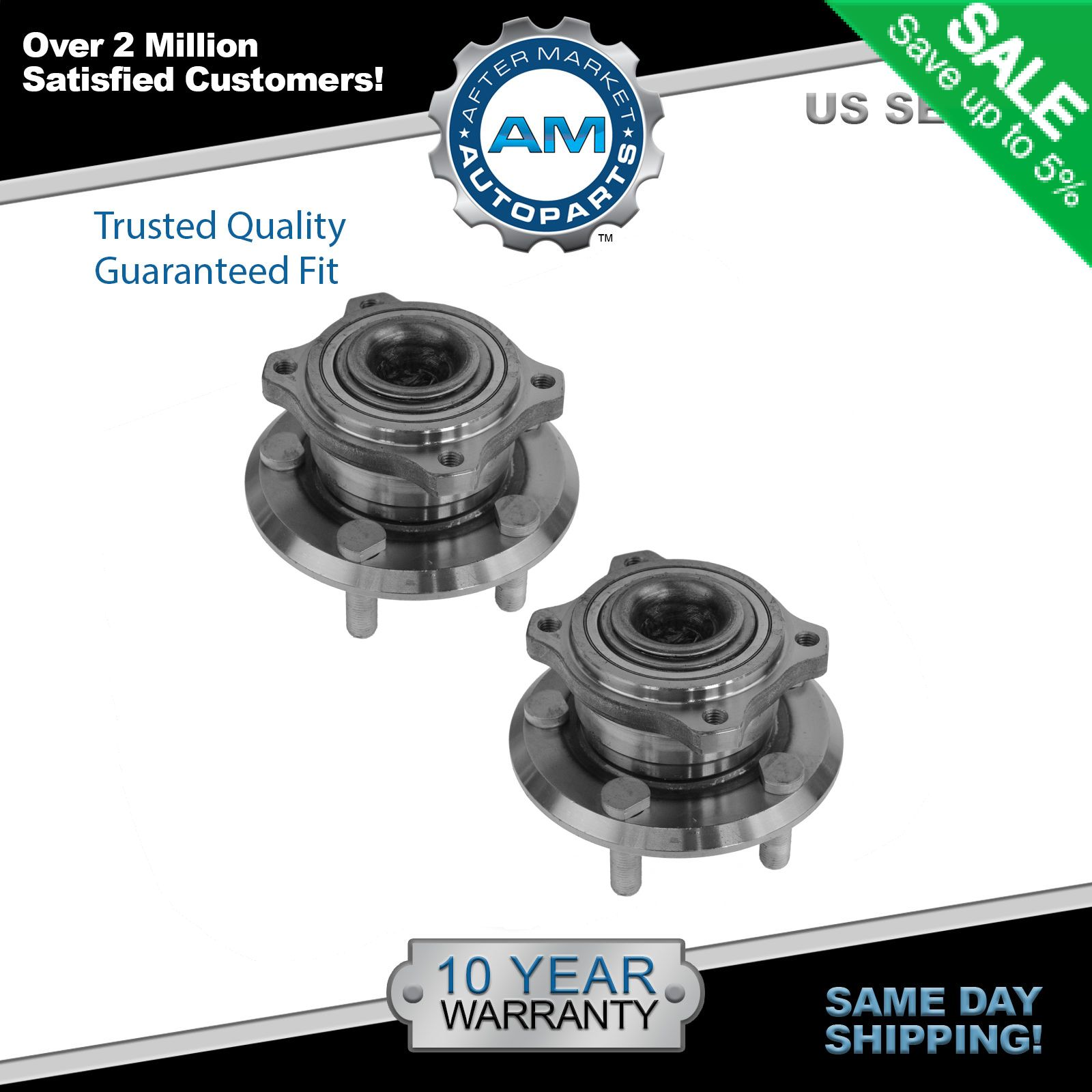 2014 Chrysler 300 Clevis Left Front Suspension Awd: Front Wheel Hub & Bearing Left & Right Pair For Charger