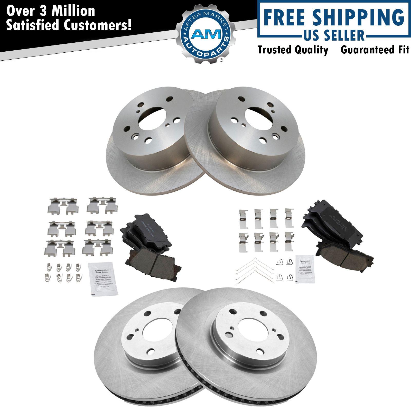 Brake Rotor Material : Front rear premium posi ceramic disc brake pads rotor