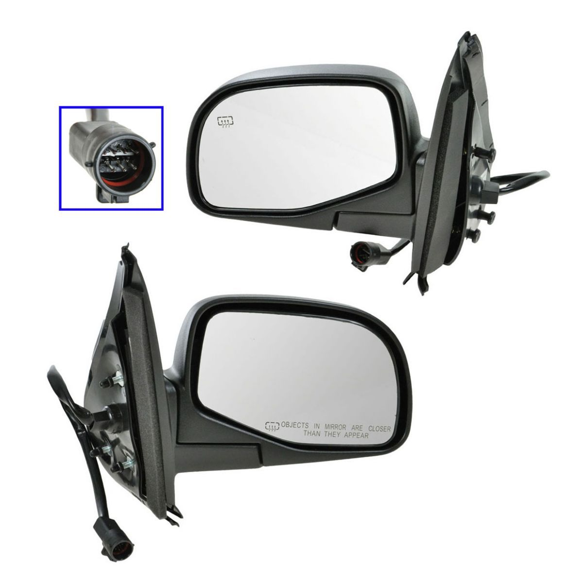 Power Foldaway Heated Side View Door Mirror Assembly W//PUDDLE Driver Left LH