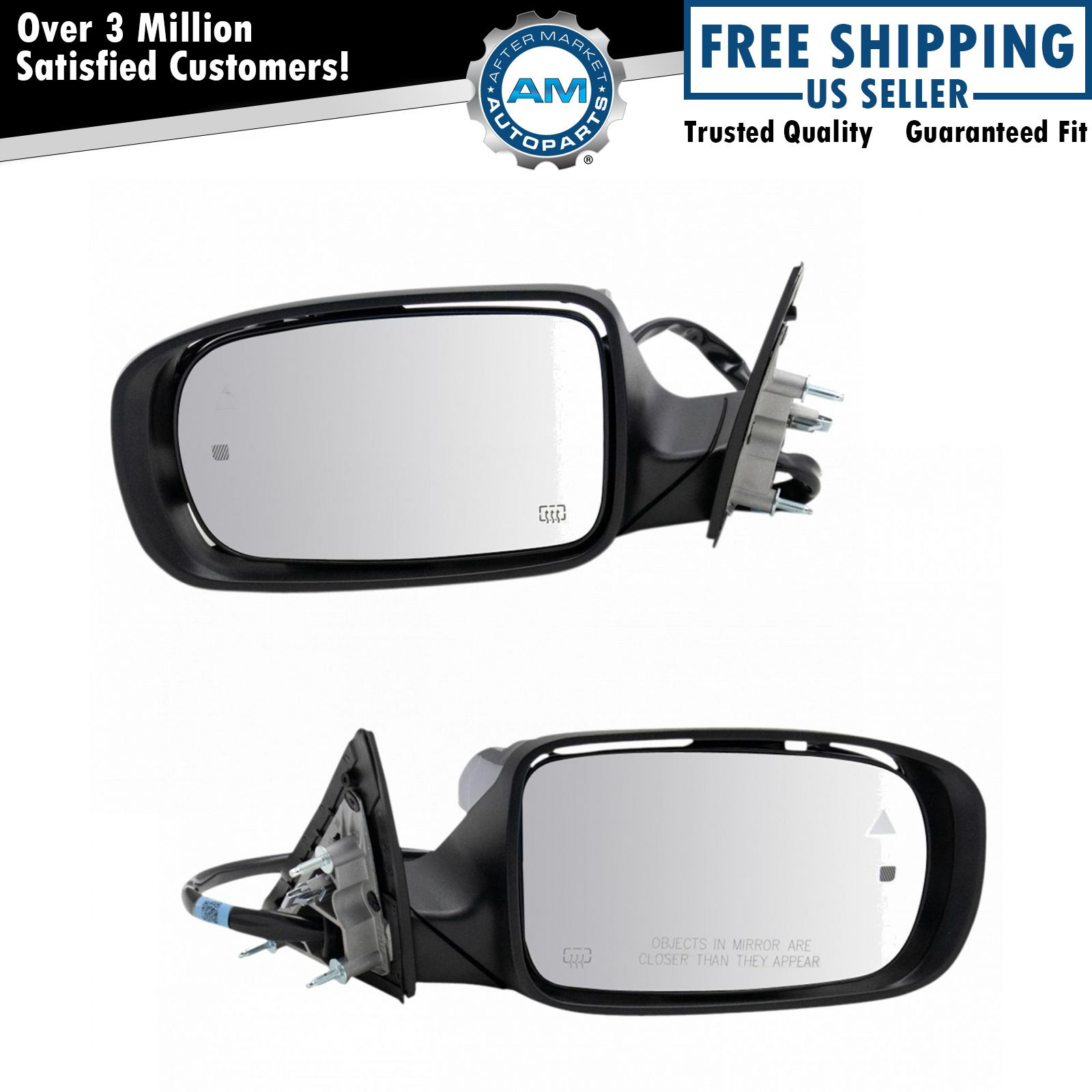 Set Mirrors for 11-19 Dodge Charger Power Heated Memory Blind Spot Detection
