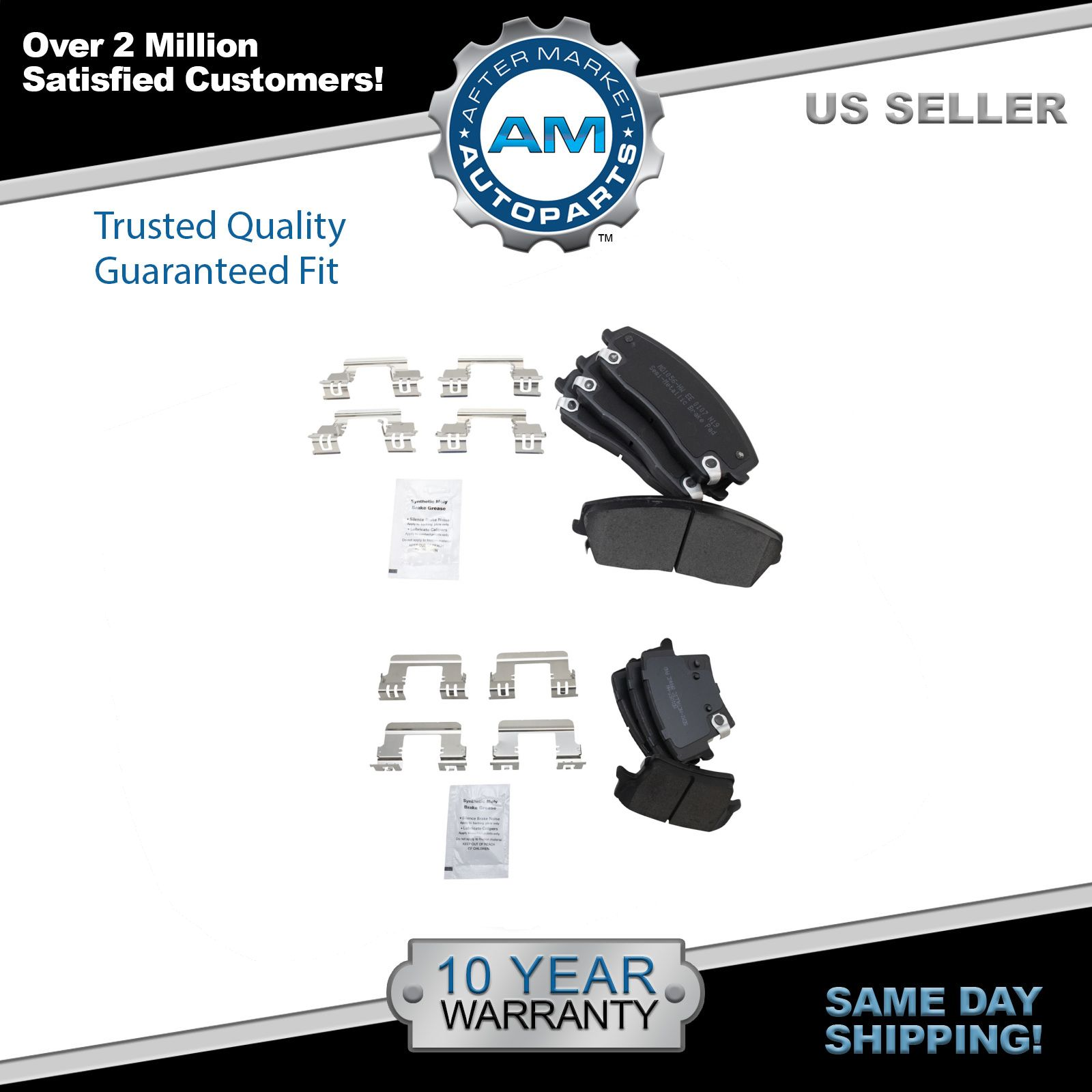 Front Rear Premium Posi Semi Metallic Brake Pad Kit for Dodge Chrysler