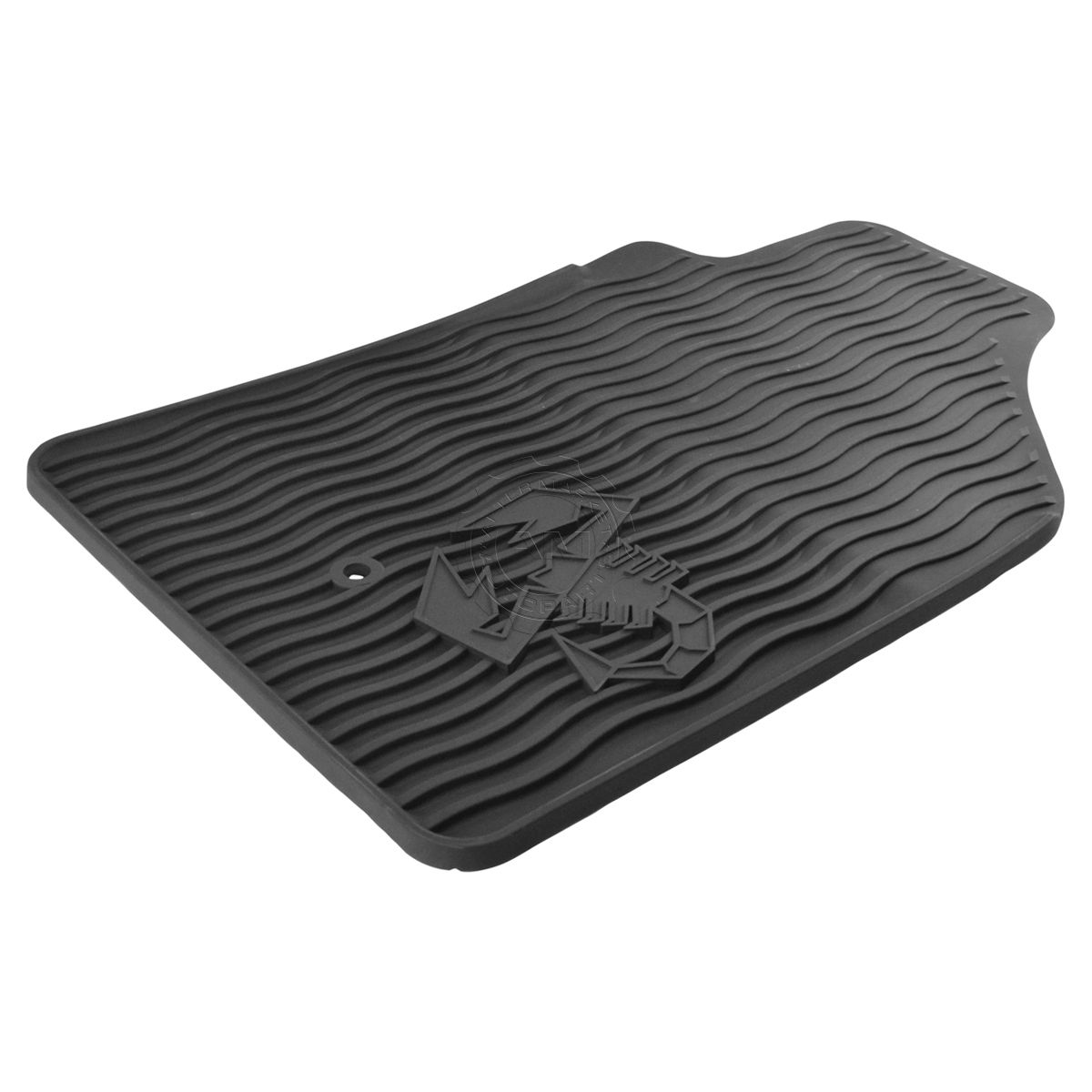 Oem Black Rubber All Weather Scorpion Abarth Front Floor