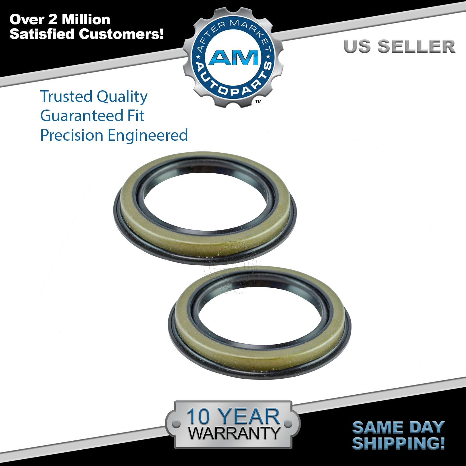 Front wheel bearing seal pair set of 2 for ford lincoln mercury mazda brand new