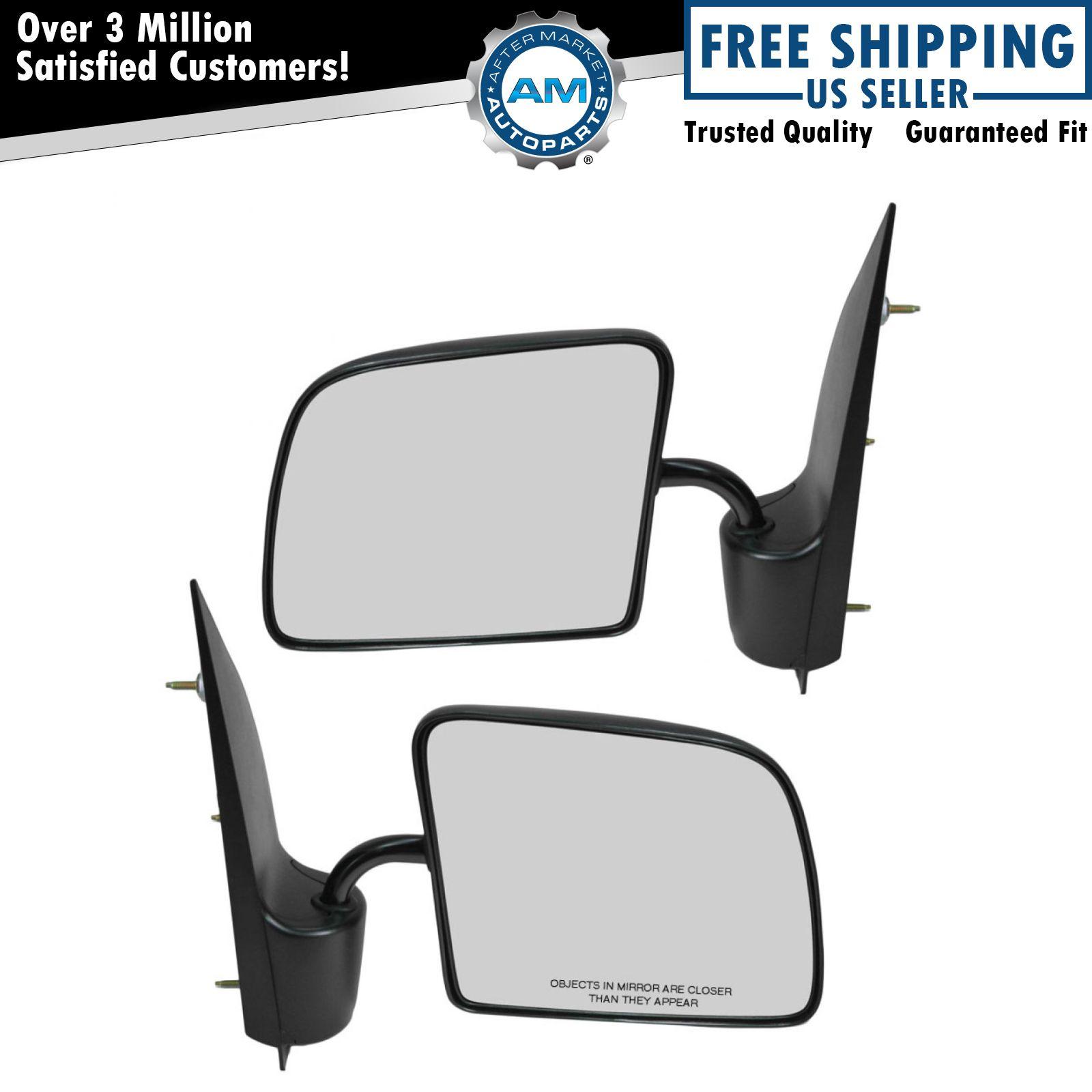 TRQ Manual Folding Mirrors RH Passenger Side for 94-06 Ford E350 Van E150 E250