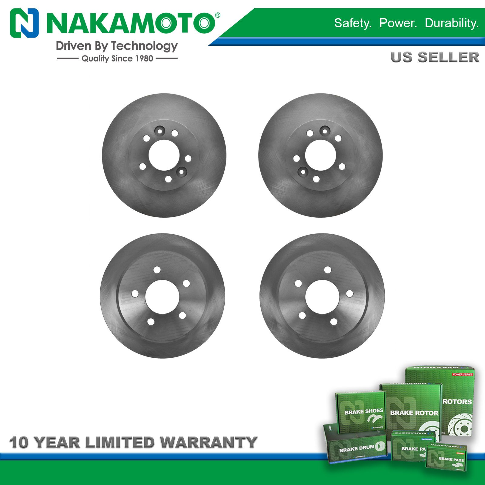 Details about Nakamoto Brake Rotor Front & Rear Kit for Crown Victoria  Grand Marquis Town Car