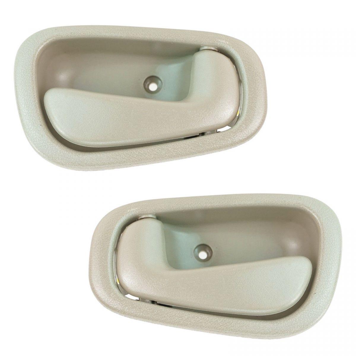 dorman door handles interior tan pair set of 2 for toyota corolla chevy prizm ebay ebay