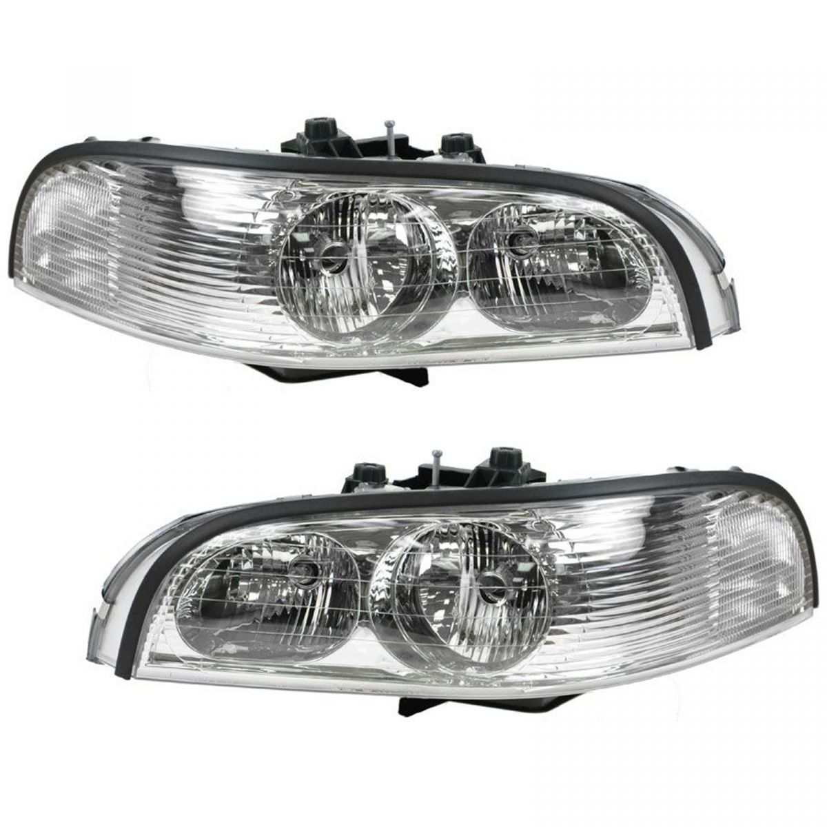 headlights headlamps left right pair set for 97 05 buick. Black Bedroom Furniture Sets. Home Design Ideas