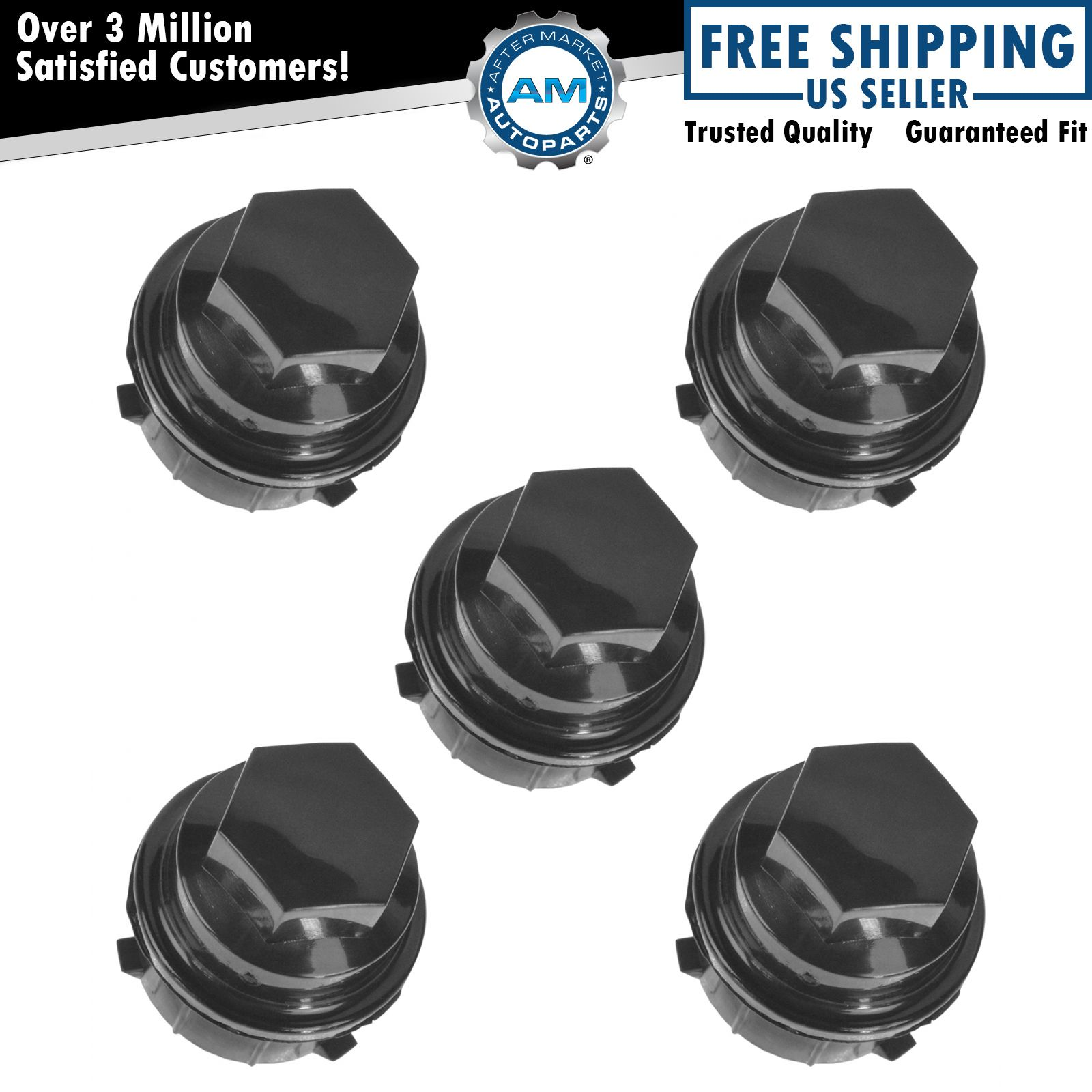 Oem 9594435 Wheel Lug Nut Cap Cover Black Set Of 5 For Pontiac Chevy Buick Olds Ebay