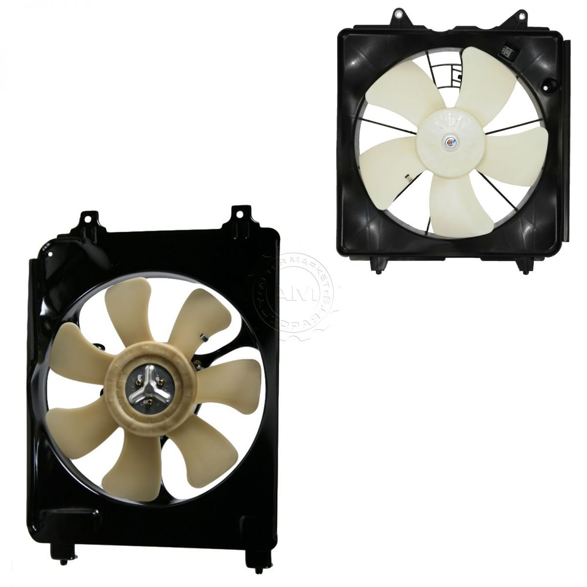 Radiator AC Condenser Cooling Fan Assembly Pair Set for Honda Civic 1.8  Manual