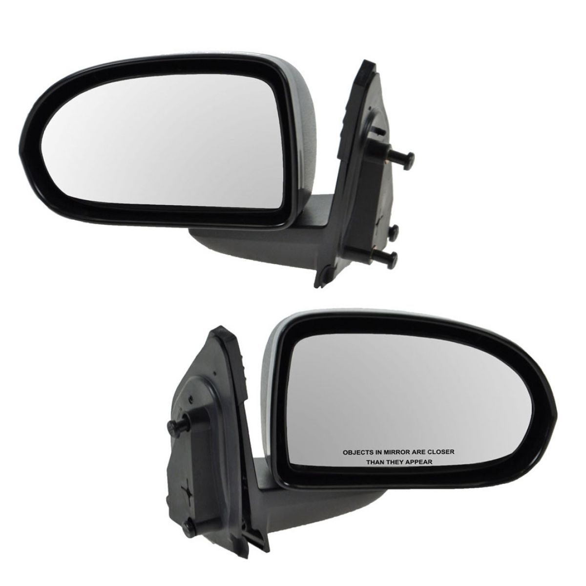 Side View Mirrors Manual Folding Left & Right Pair Set for 07-17 Jeep Compass