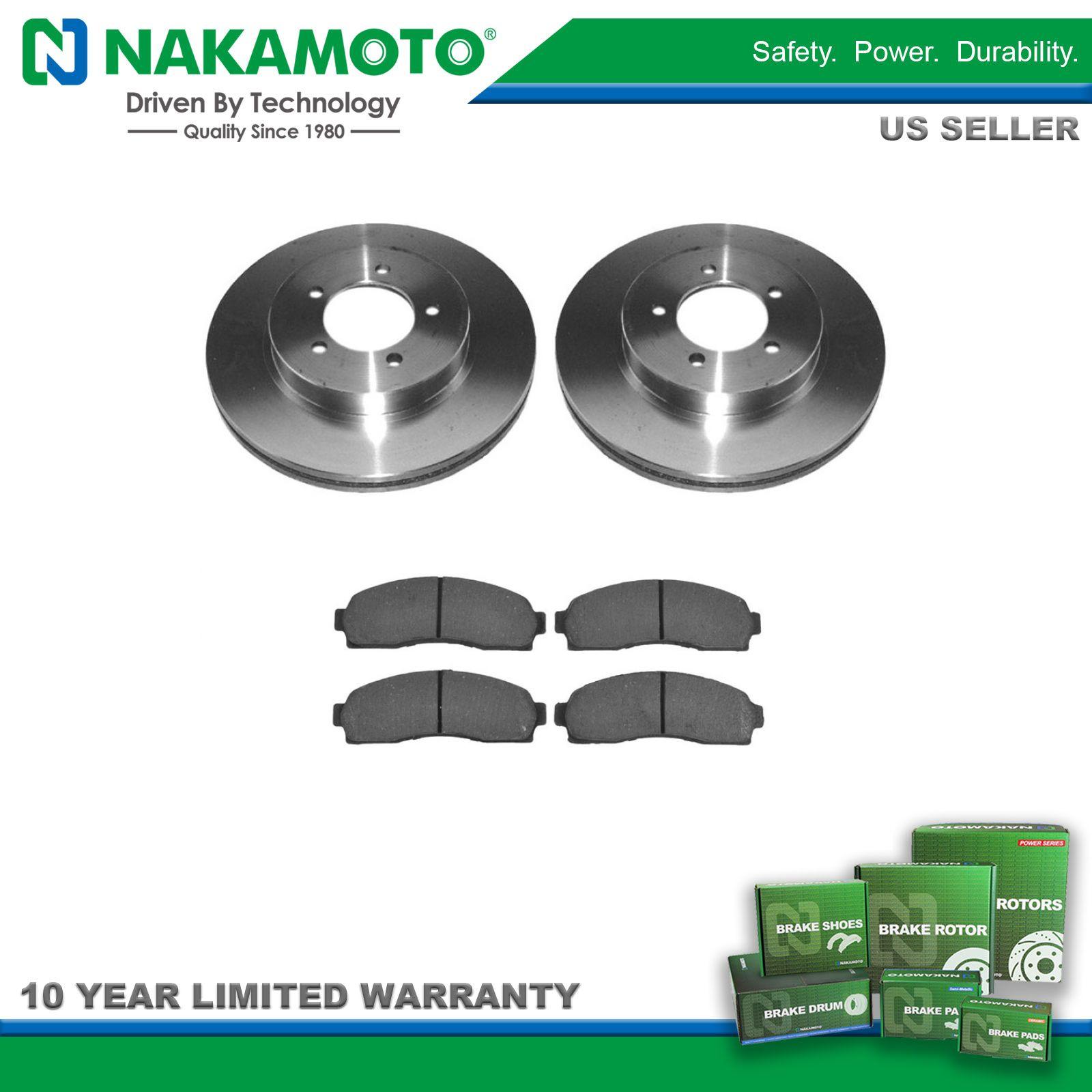 Nakamoto Front Premium Posi Ceramic Brake Pad /& Rotors Kit Set for Ford Mercury