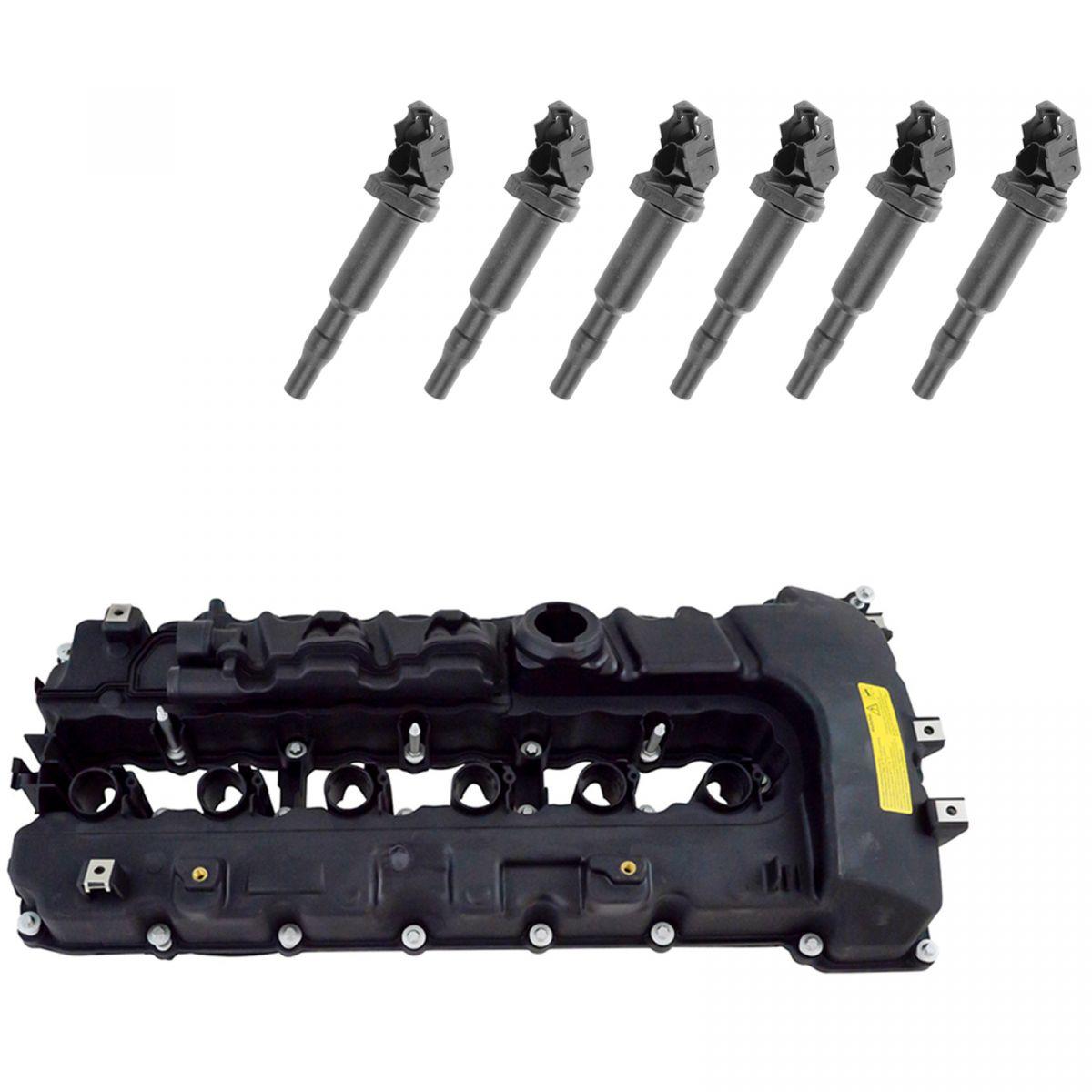 Engine Valve Cover Gaskets & Ignition Coil Kit Set For BMW