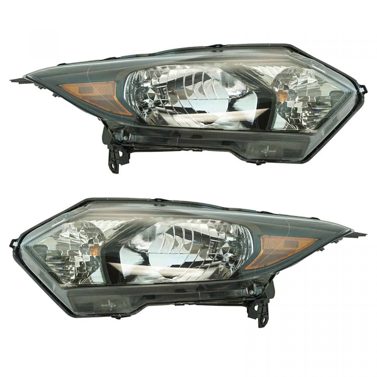 Halogen Headlight Lamp Assembly Lh Rh Set Of 2 Pair For