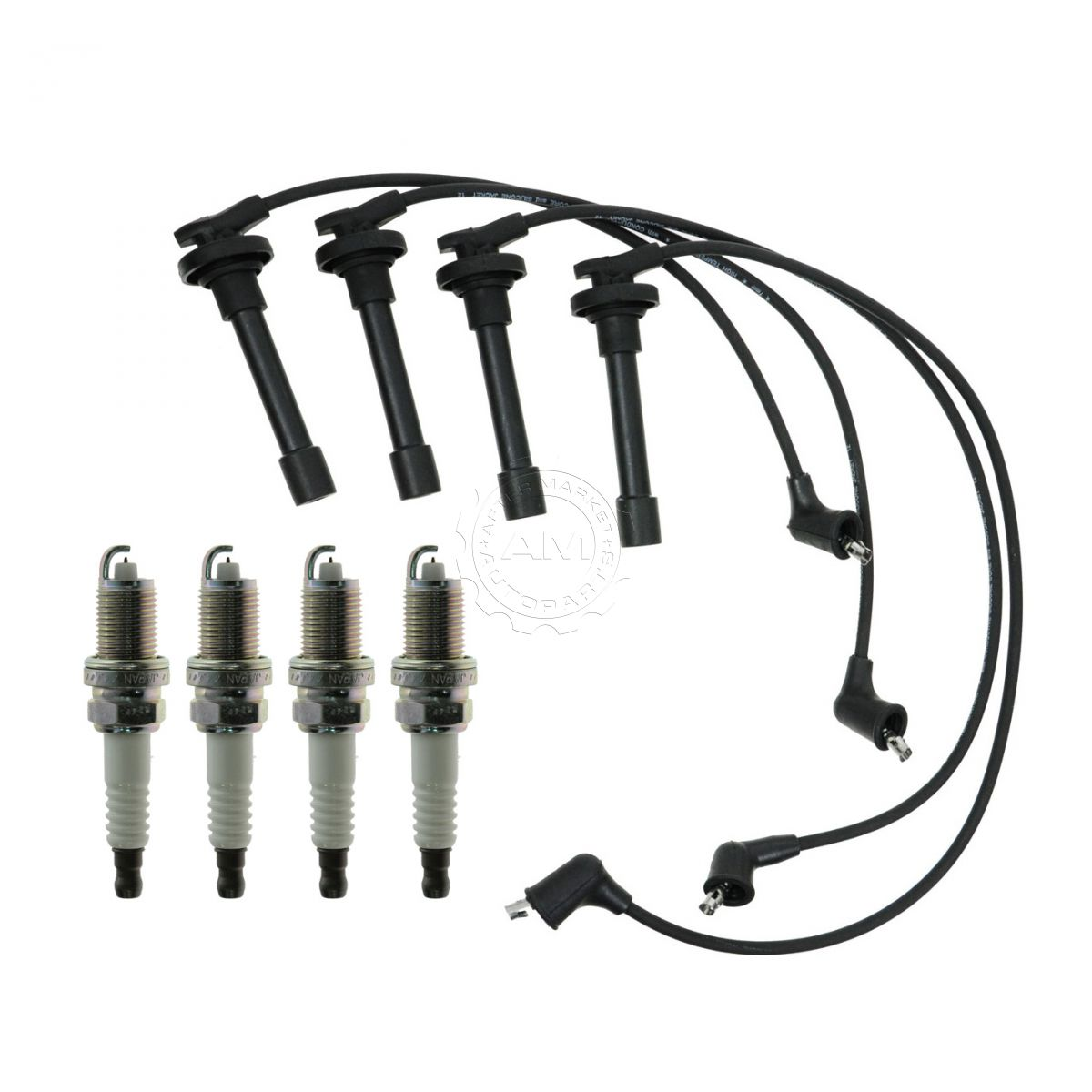 Platinum Spark Plugs  U0026 Ignition Wires Kit For 92