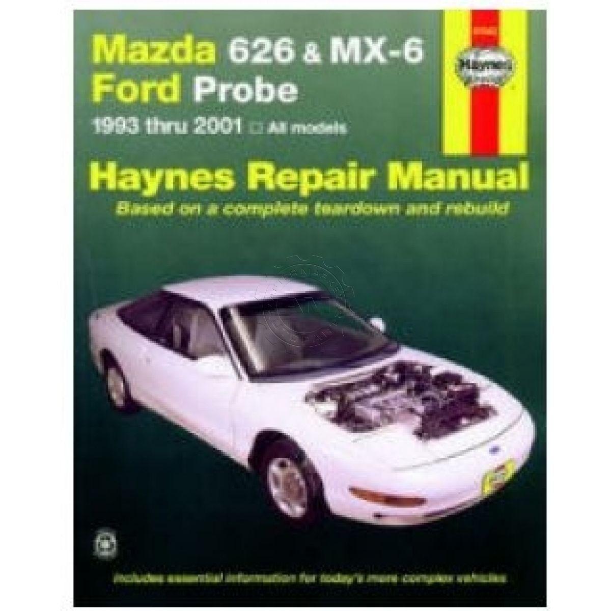 haynes repair manual for mazda 626 mx 6 ford probe ebay rh ebay com 1999 Mazda 626 Repair Manual Mazda 626 Engine Parts
