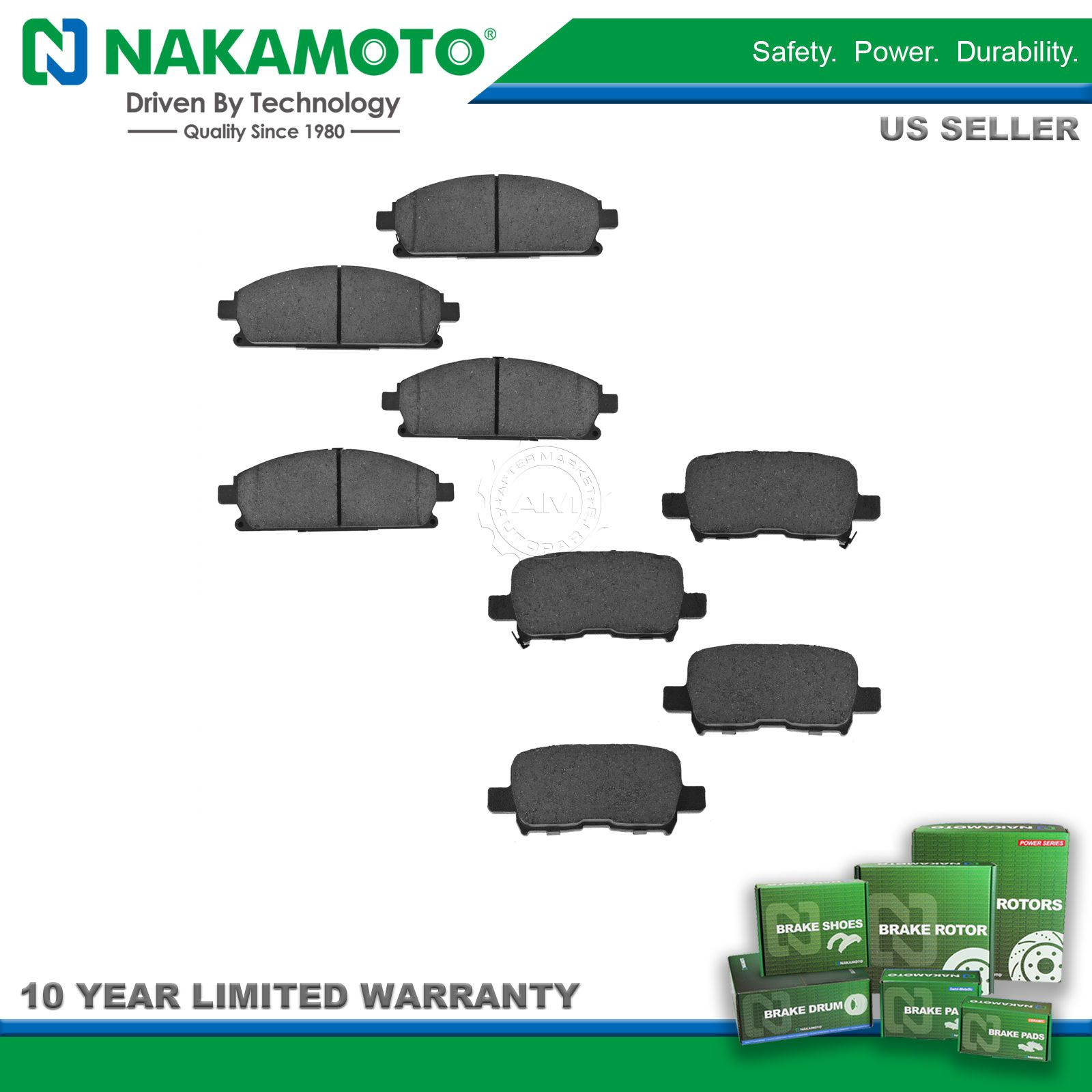 Nakamoto Front & Rear Ceramic Brake Pad Kit Set for Acura ...