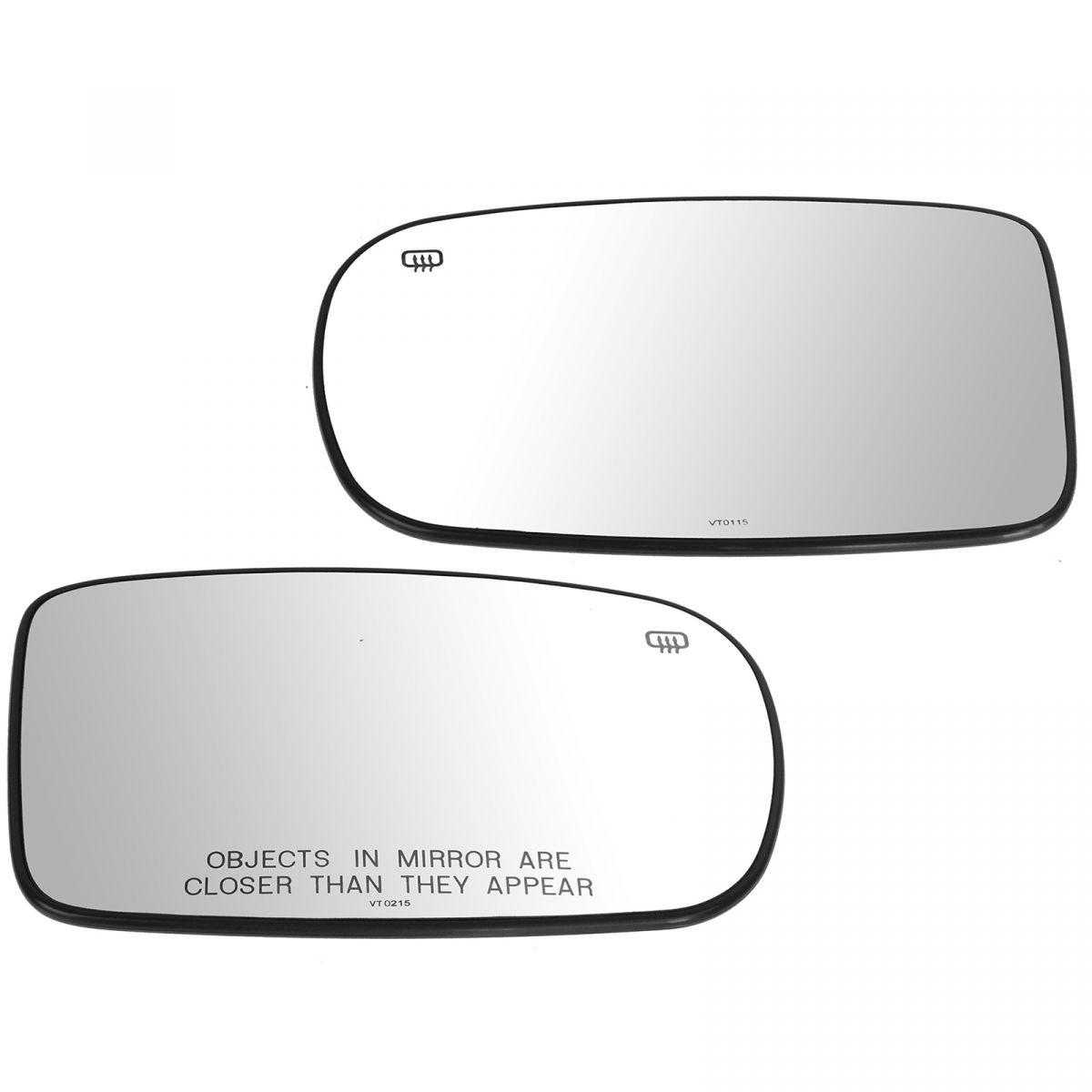 OEM 68101146AA Heated Power Manual Folding Mirror Glass w// Backing RH for Dodge