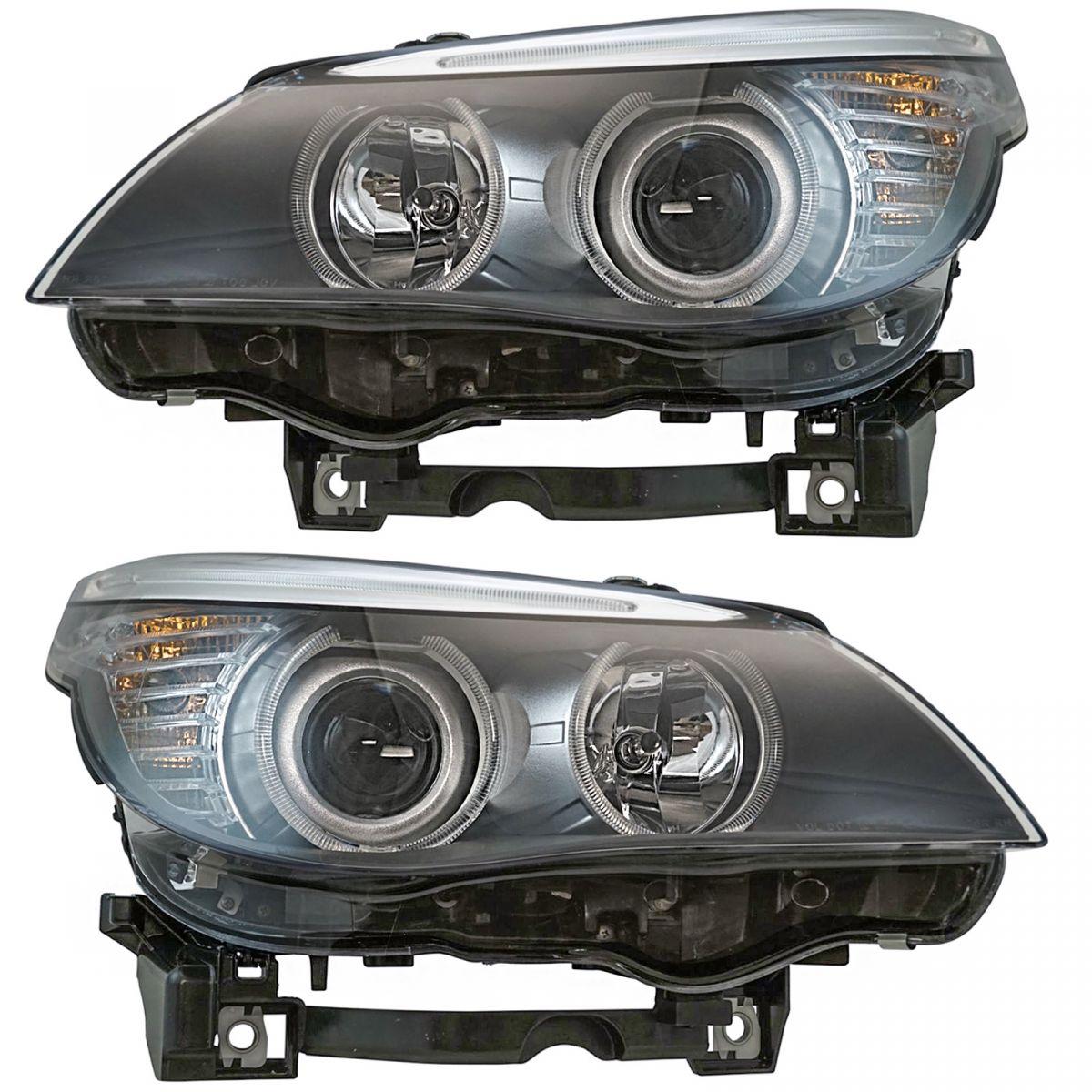 Halogen Headlight Headlamp LH LF & RH RF Set Of 2 Pair For