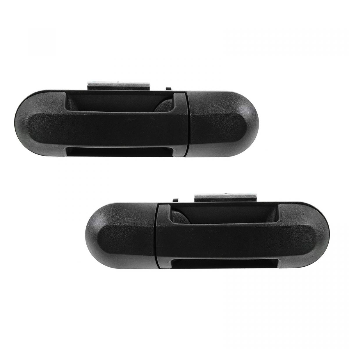 Door Handle Rear Outer Black Textured Pair Set for Explorer Mountaineer NEW