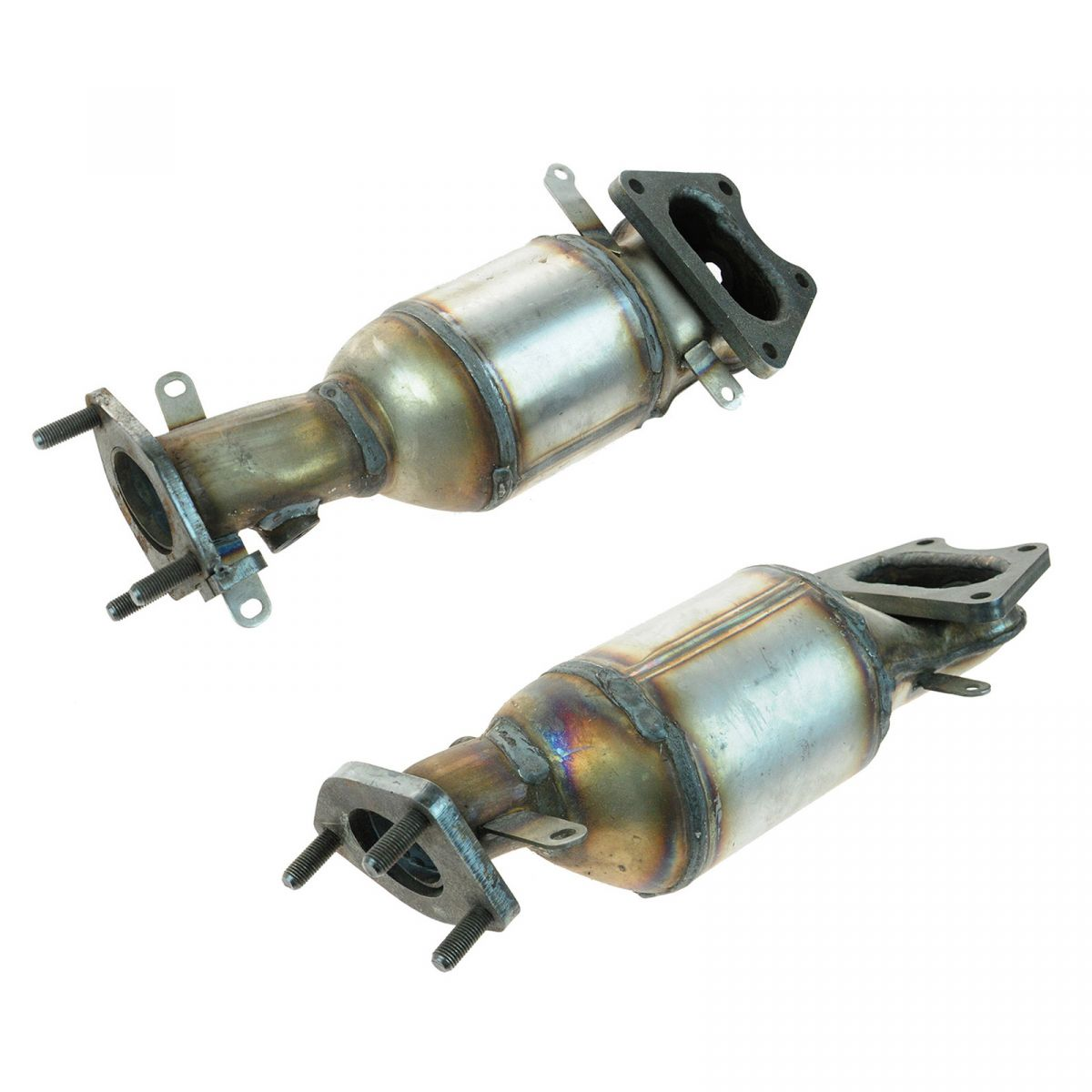 Front & Rear Exhaust Manifolds W/ Catalytic Converter Pair