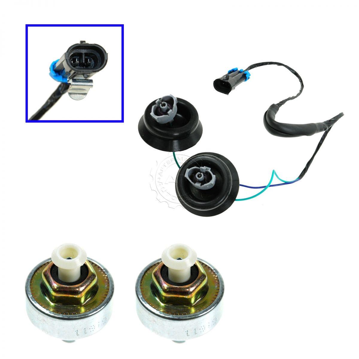 Knock Sensor With Harness Pair Kit Set For Chevy Gmc Silverado Oxigen Sencer 2000 Jimmy Wiring Sierra Cadillac