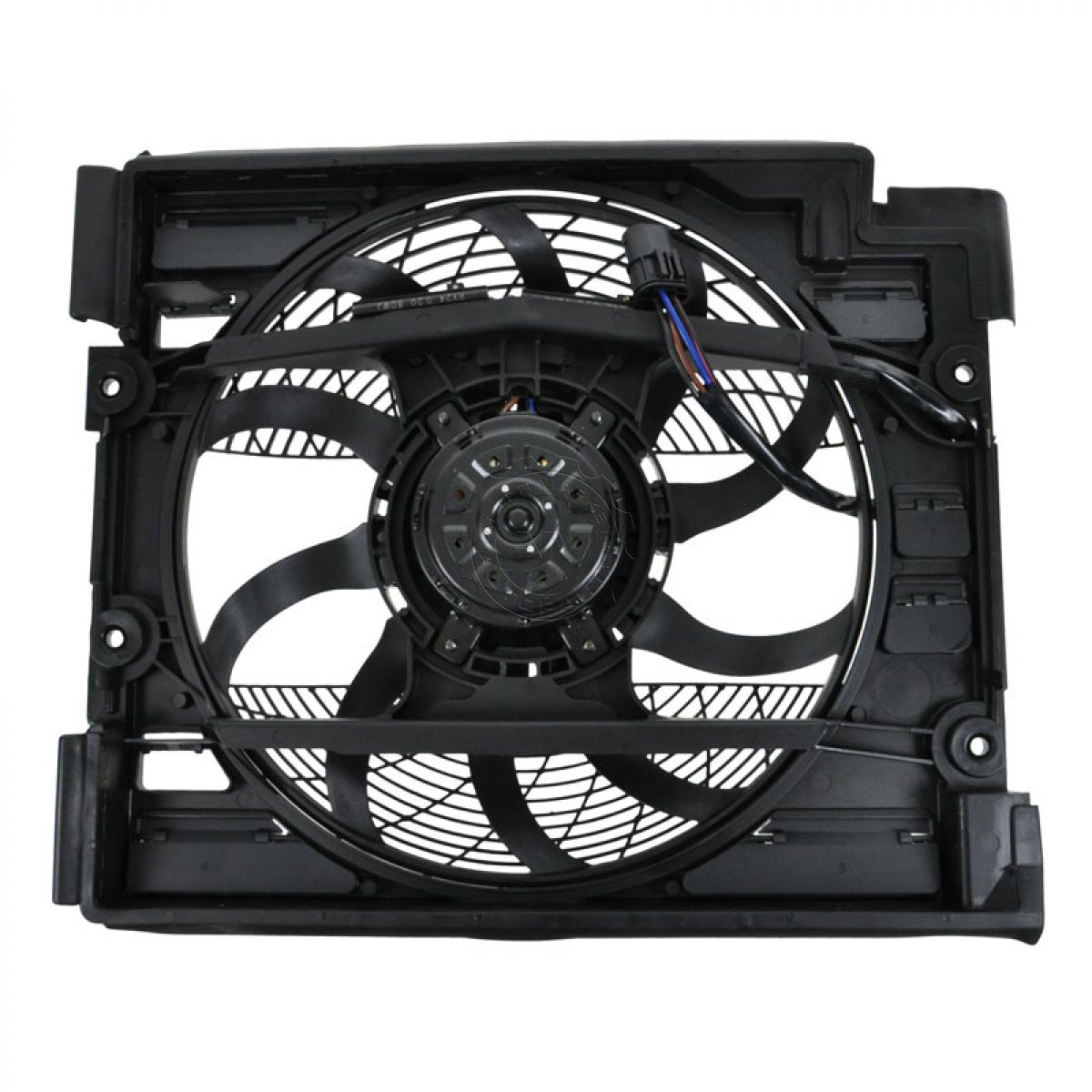BEHR 351040101 A/C AC Condenser Auxiliary Cooling Fan for 97-98 BMW 528i 540i