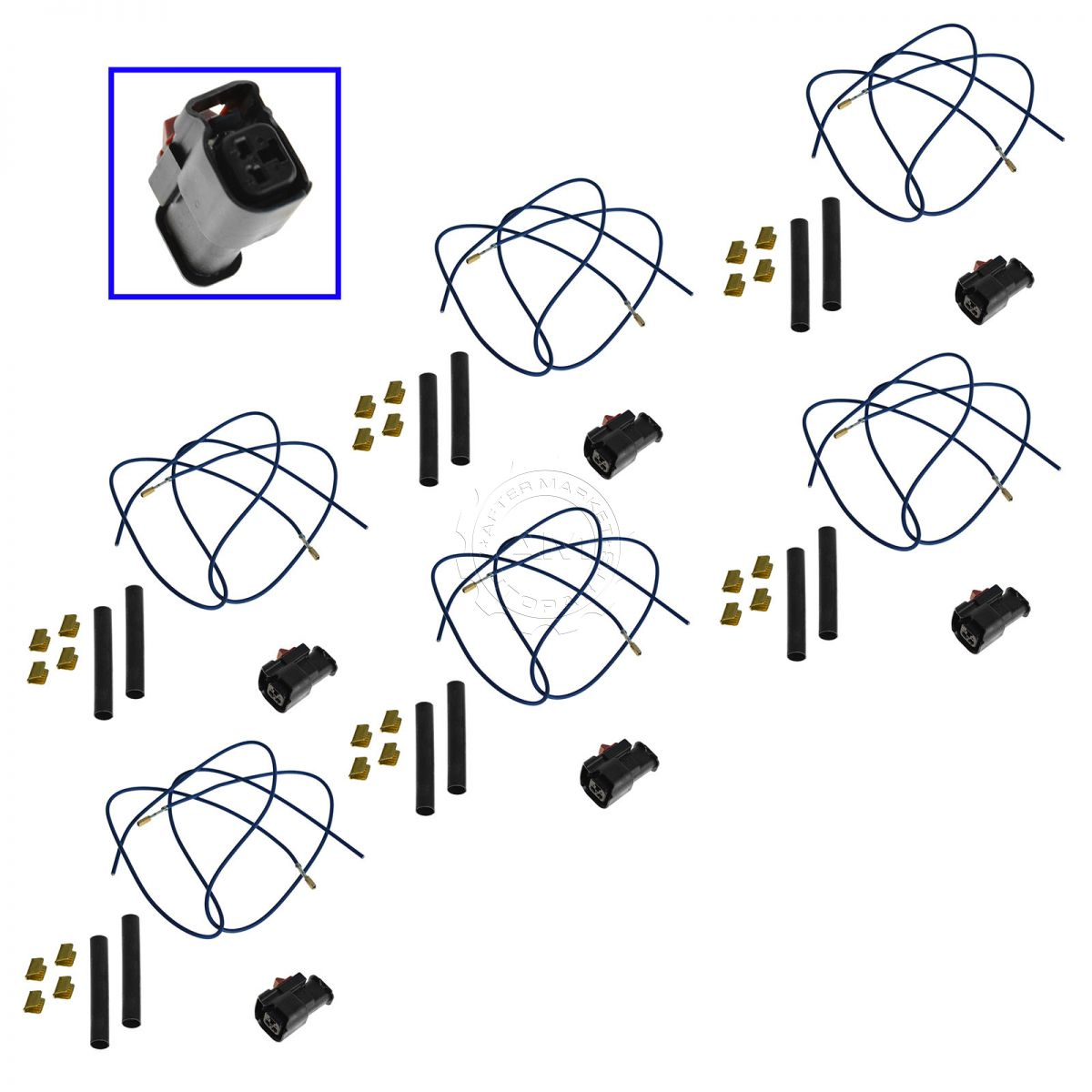 Fuel Injector Pigtail Harness Kit Set Of 6 For Chevy Mazda Ford. Fuel Injector Pigtail Harness Kit Set Of 6 For Chevy Mazda Ford Buick Hyundai. Buick. 2004 Buick Rendezvous Fuel Injector Wiring At Scoala.co