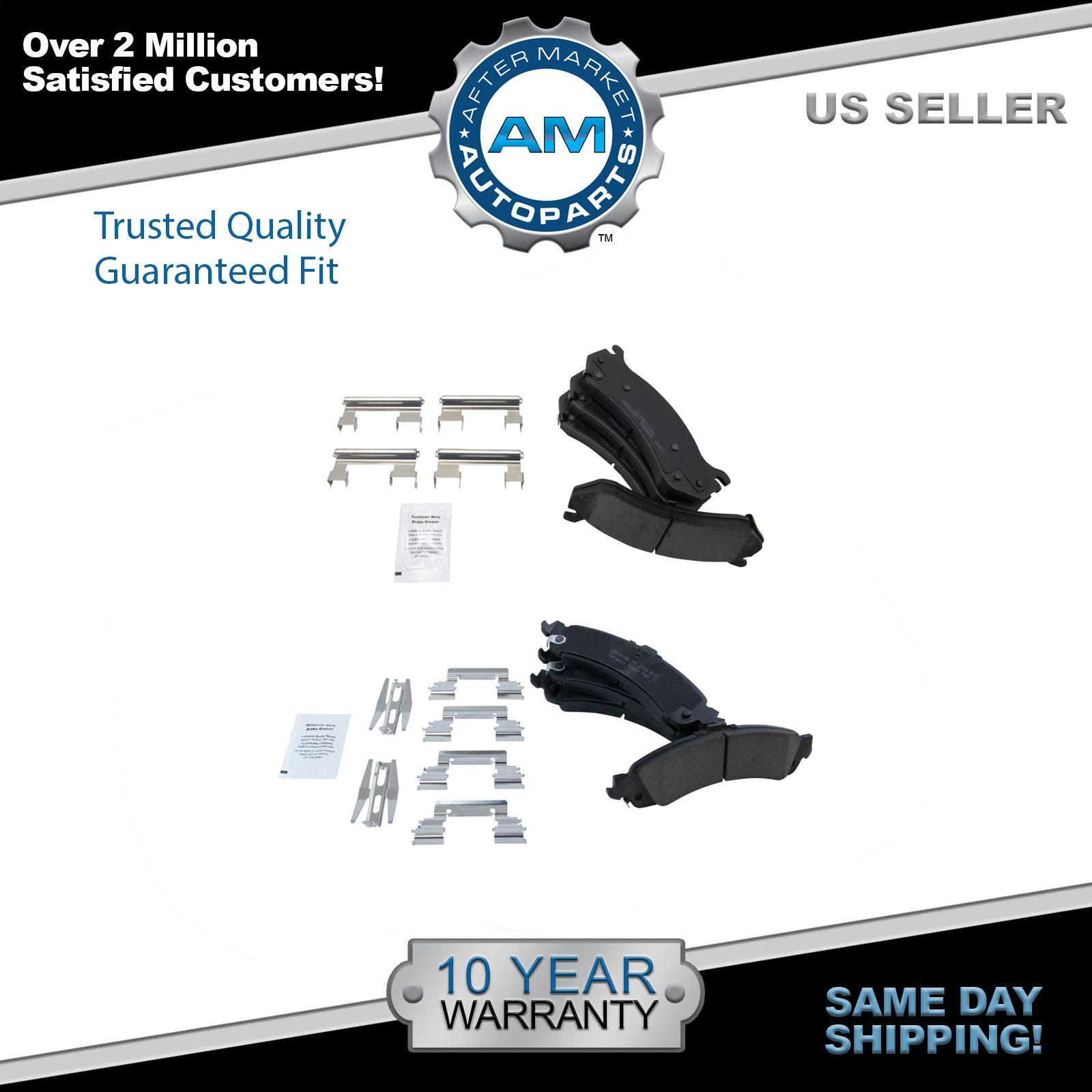 Front & Rear Premium Posi Ceramic Brake Pads Kit for GM Truck SUV