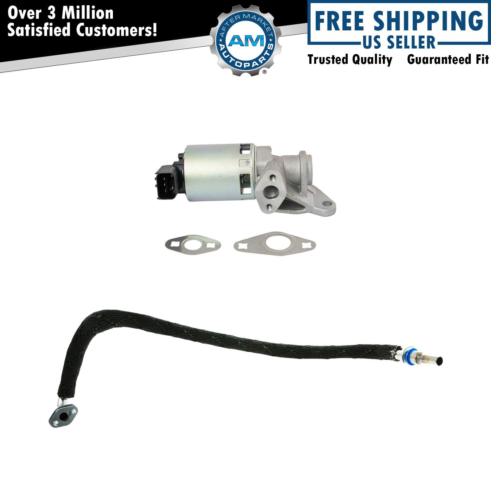 Emissions egr tube and valve for dodge ram durango
