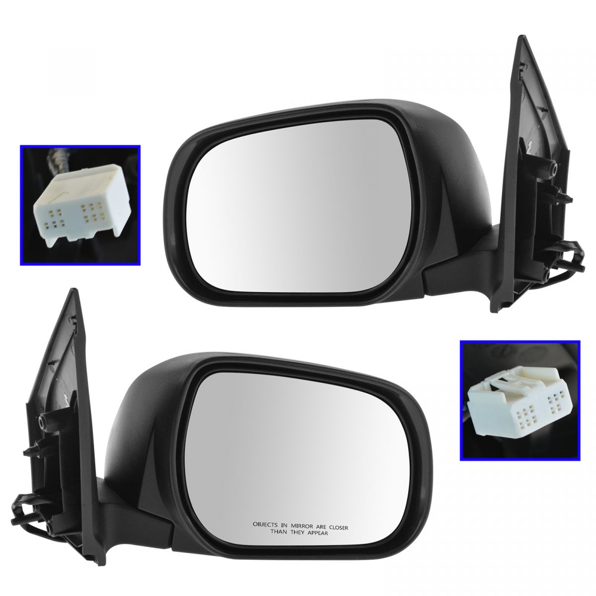 or Signal USA Built Fits 09-12 Rav4 Right Pass Mirror Power w//out Heat